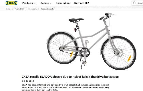 Ikea Ritira Dal Mercato Bicicletta Sladda